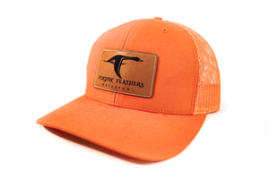 Orange Leather Patch Hat