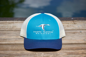 Teal/Navy/Cream Hat