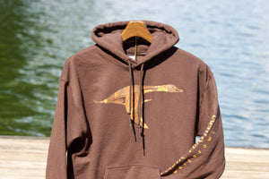 Foldin' Feathers Logo Sweatshirt in Brown