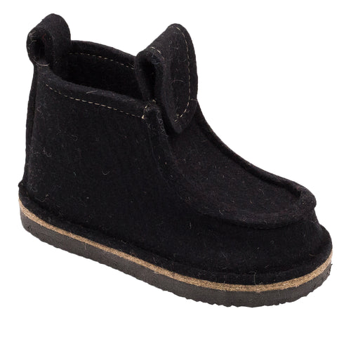 Black Classic Boot with Treaded Sole
