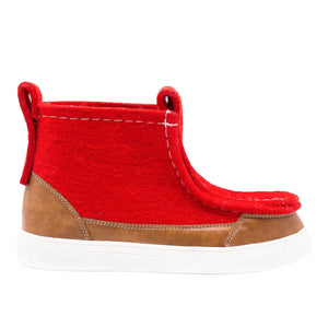 Red/Brown Sneaker Boot