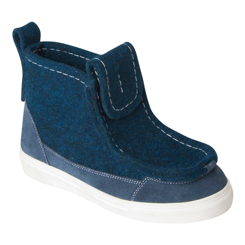 Navy Blue Sneaker Boot
