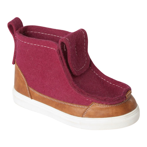 Burgundy/Brown Sneaker Boot