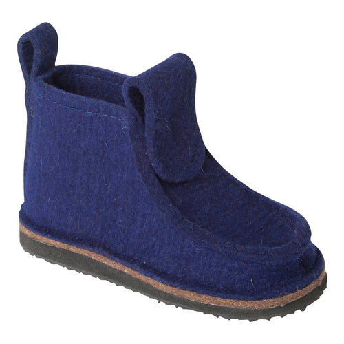 Navy Blue Classic Boot with Treaded Sole