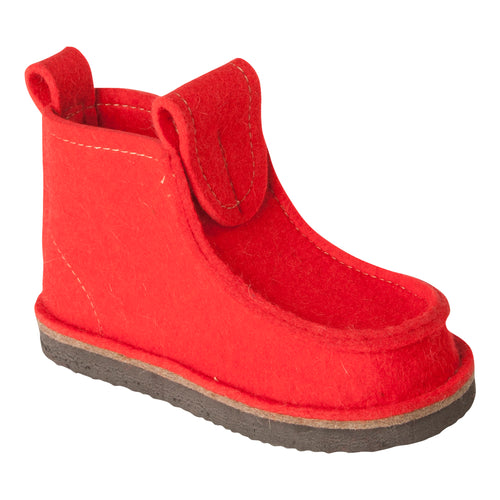 Red Classic Boot with Treaded Sole