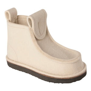 White Classic Boot with Treaded Sole