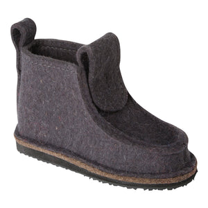 Gray Classic Boot with Treaded Sole