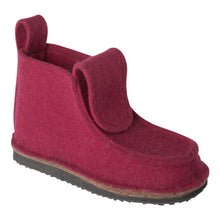 Load image into Gallery viewer, Burgundy Boot with Treaded Sole
