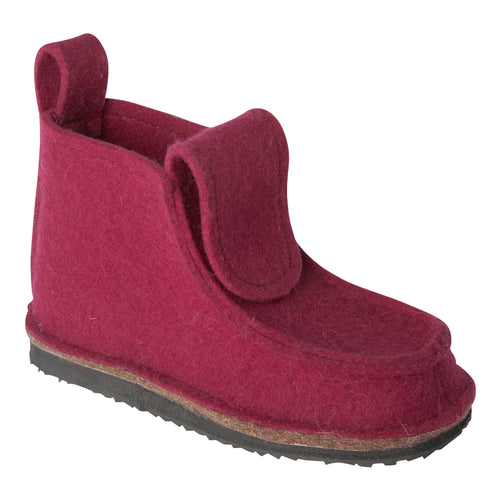 Burgundy Boot with Treaded Sole