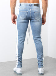 The Double Striped Track Jeans V2 in Blue