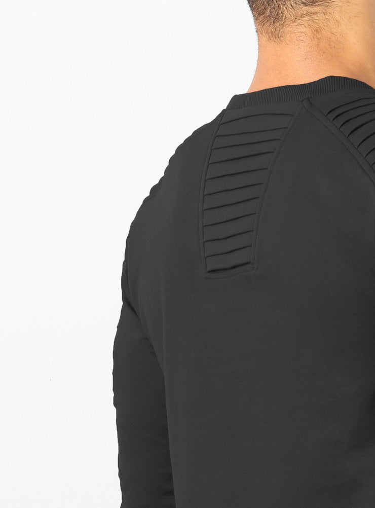Camolteni x Tvtsim Triple Biker Long Sleeves T-shirt in Black