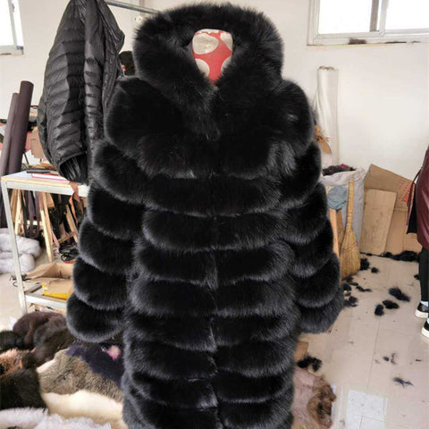 BLRFC02 High Quality Winter Real Fox Fur Woman Coats