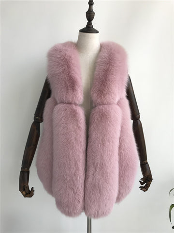 BLRFV01 Real Fox Fur Vest