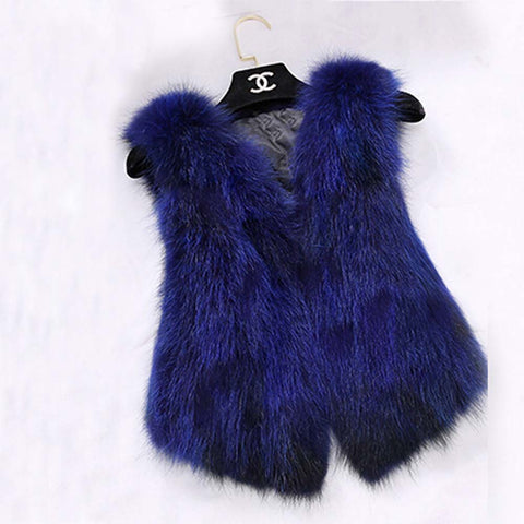 BLRFV02 Fashion Real Fox Fur Vest