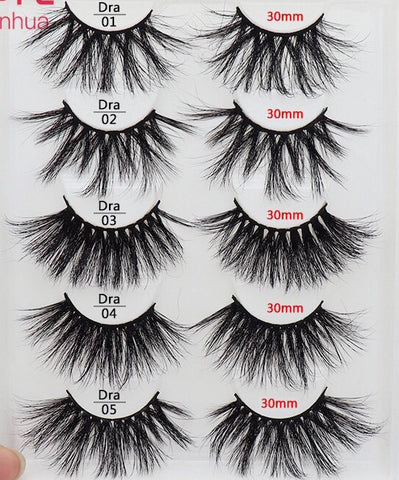 LashesL15 30mm mink lashes eyelashes without packaging