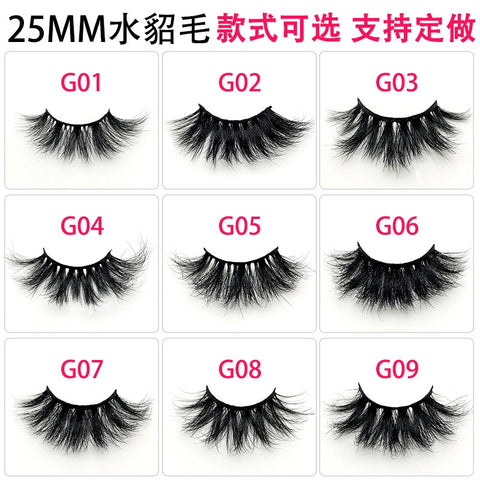 LashesL19  mink lashes eyelashes without packaging