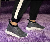 BLCSB Crystal Sneakers Black Shoes Rhinestones