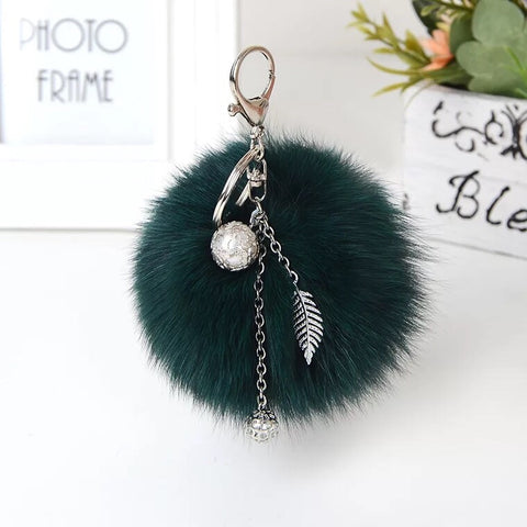 BLFFBK01 Fox Fur Ball Keychain