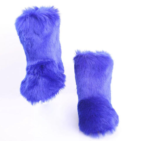 BLFFBR Hot Sale Blue Boot Faux Fur Boots