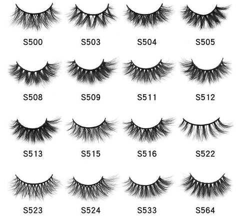 LashesL20 mink lashes eyelashes without packaging