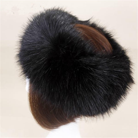 BLFFHB Hot Sale Best Quality #25 Black Faux Fur Headband