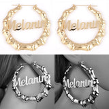 Earrings with letters 78645