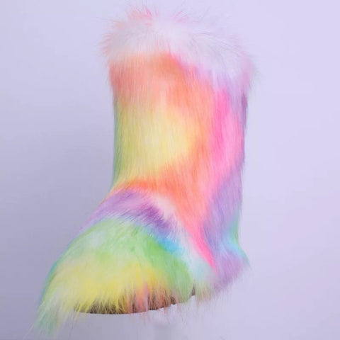 BLFFB07 Hot Sale Colorful Boot Faux Fur Boots