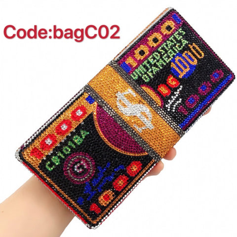 BagC02  Clutch bag Party Bags Crystal bags Money Bags