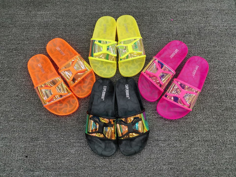 BLJS08 Candy Color Jelly Slides Slippers