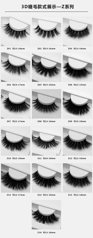 LashesL18  mink lashes eyelashes without packaging