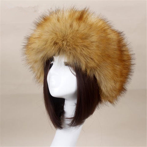 BLFFHGB Hot Sale Best Quality Grass Brown Tip Faux Fur Headband