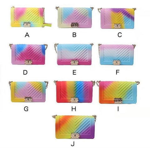 BLH2 Candy Color Colorful Handbags Purse bags