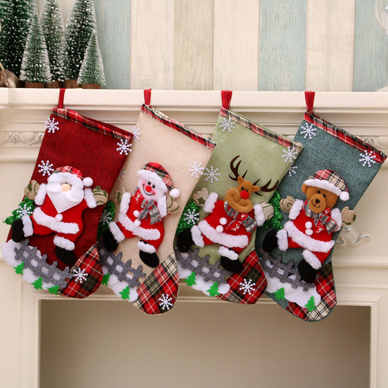 Christmas Socks Decoration Gift Bag