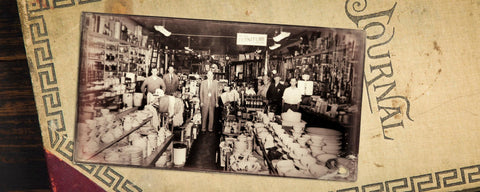 men standing in a mercantile store that was located in south Georgia