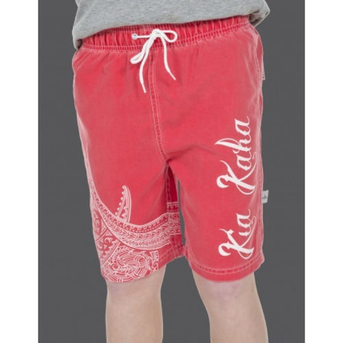 Boys Red Pacifica Shorts