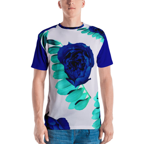 Floral Leaf Men's T-shirt - Made To Worship God - Eraless