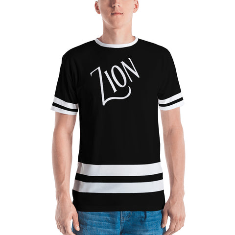 Zion's Alpha Omega Men's Jersey T-shirt - Eraless