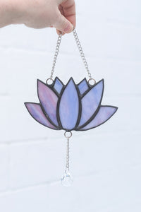 Lotus Stained Glass by Modern Moth Designs