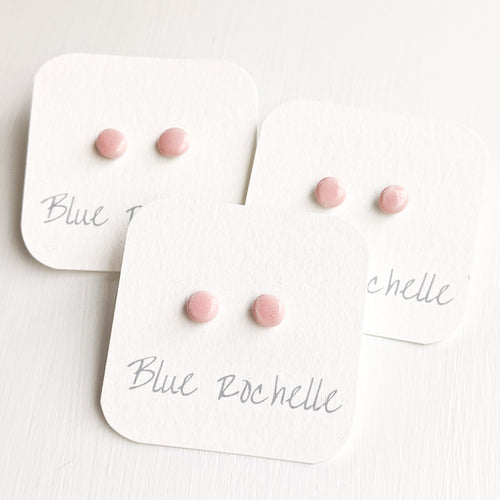 Pink Jane Studs by Blue Rochelle