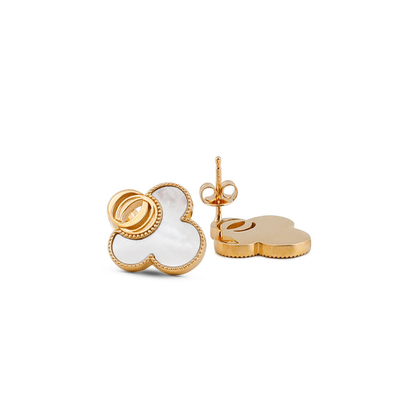 OSJ20 Ladies Earrings Flora Collection White