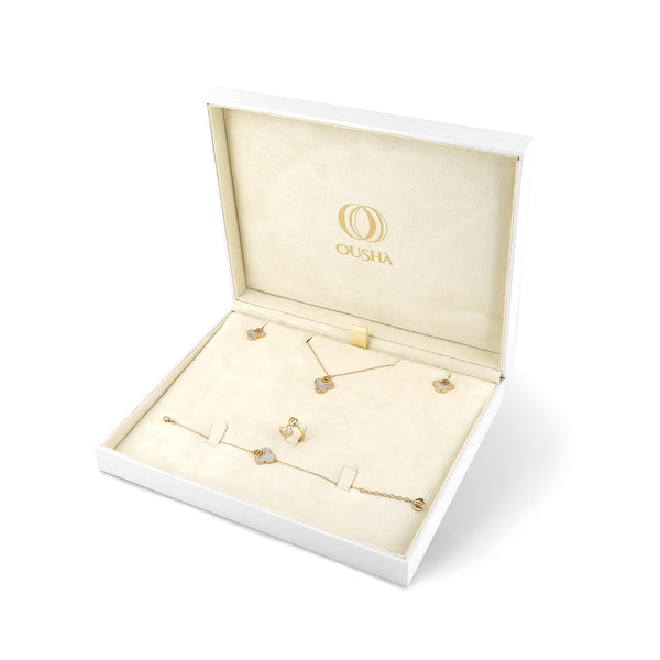 OSJ20 Ladies Set Box Flora Collection White