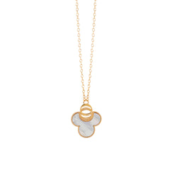 OSJ20 Ladies Necklace Flora Collection White