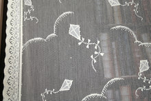 "KITES - Vintage design Cotton Lace Curtain Panelling 50"" sold per metre Pink"