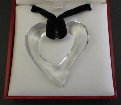 Baccarat clear heart pendant
