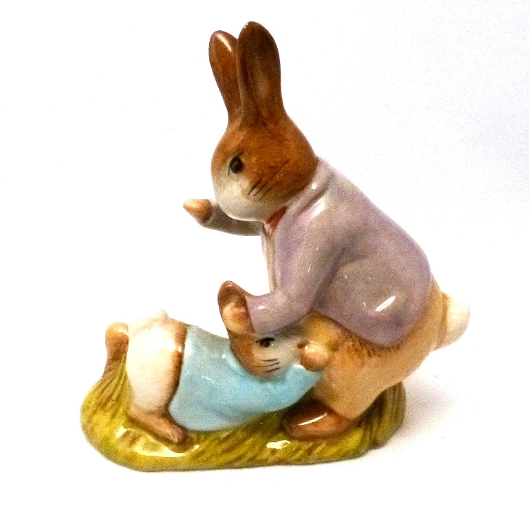 Royal Albert Beartrix Potter Figurine - Mr Bemjamin Bunny and Peter Rabbit (Boxed)