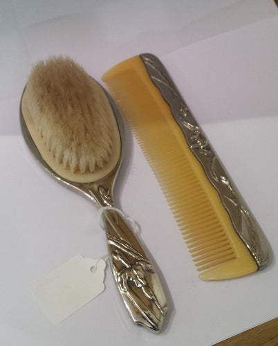 Art Noveau Style Brush & Comb Dressing Table Set