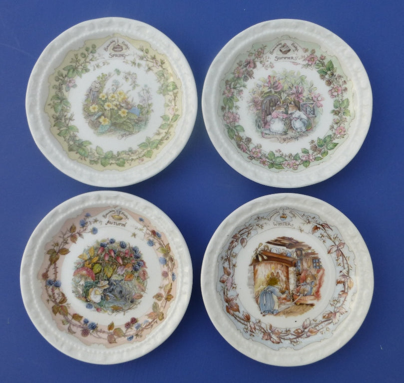 Royal Doulton Set of Four Coasters - Spring, Summer, Autumn and Winter