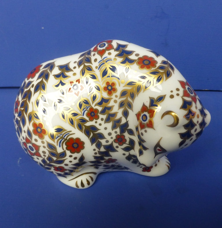 Royal Crown Derby Paperweight - Russian Bear with Gold Stopper (Boxed|)