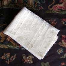 Rue de France- Antique Style Cream Cotton Lace Curtain Panelling Sold By The Metre - 27 inches wide
