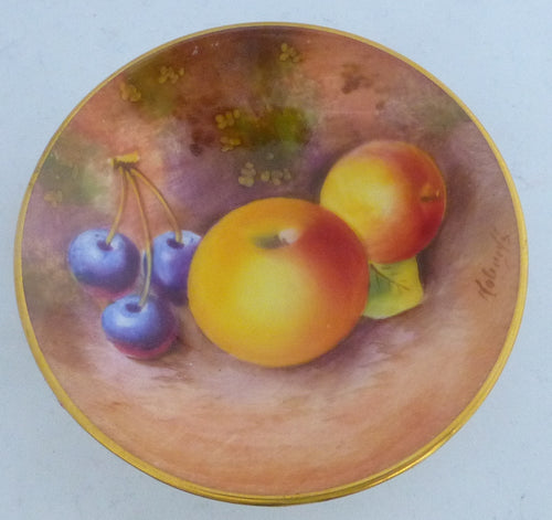 Royal Worcester Fruit Pattern Pin Dish / Tray Signed by William Roberts
